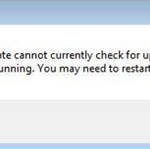 """Fix """"Windows update cannot currently check for updates because the service is not running"""" error – Windows 7"""