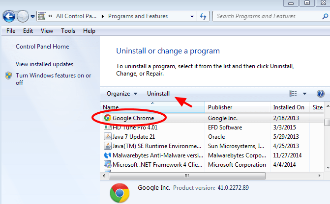 How to Uninstall Google Chrome completely from your computer