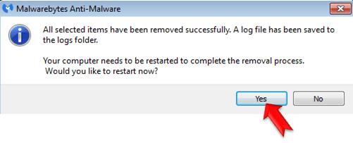 Malwarebytes Anti-Malware-restart