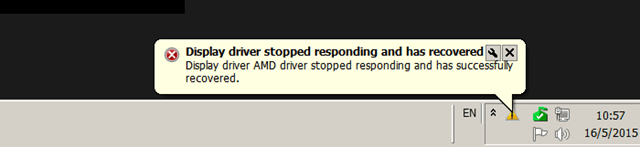 skype video crashes Display Driver stopped responding and has recovered