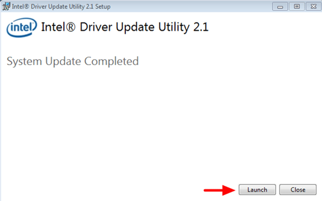 Launch Intel Driver Update Utility