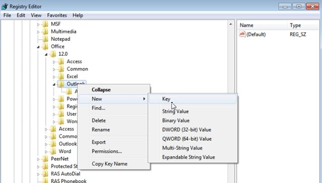 Outlook New Key