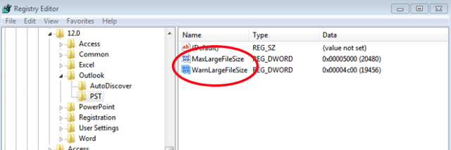 outlook maximum file size