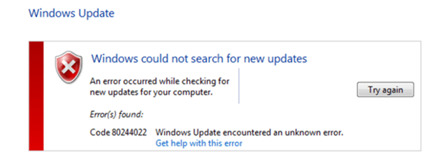 fix Windows Update Error 8024402C