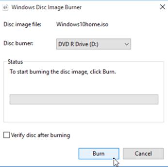 burn windows 10 iso to dvd
