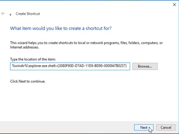place show desktop windows 10