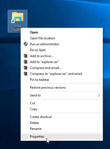 show desktop icon properties
