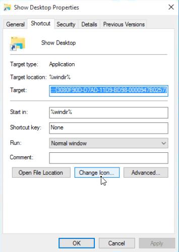 show desktop icon windows 7