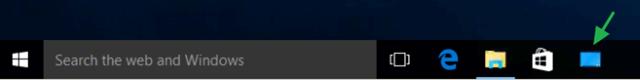 show desktop taskbar windows 10