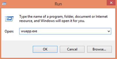 windows update application command