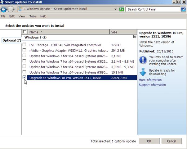 remove Windows 10 update