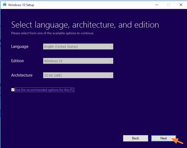 Windows 10 installation DVD