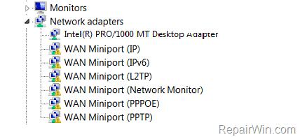 Error code 31 WAN Miniport