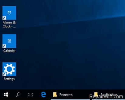 create Shortcuts Windows 10
