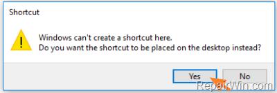 make shortcuts windows 10