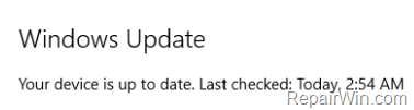 prevent a specific Windows 10 Update from install