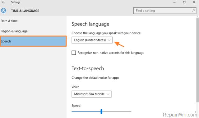 align speech to language