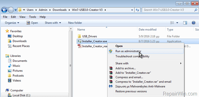 Windows 7 USB 3.0 Creator Utility