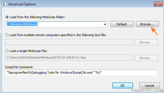 analyze minidump