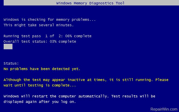 check Memory RAM