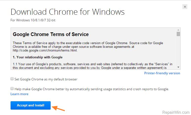 Chrome Standalone Installer