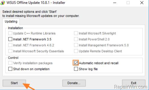 Offline Update Windows 10, 8 1, 7 or Server 2012, 2008 • Repair Windows™