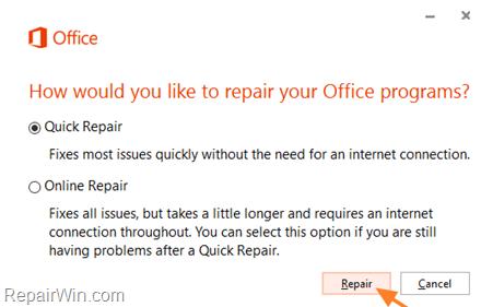 repair Office Programs