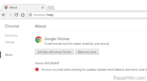 Disable Chrome Auto Update
