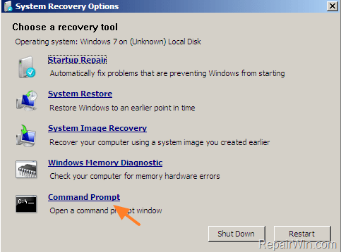window vista reset password