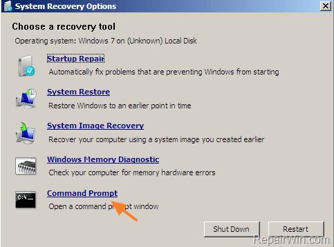 windows 8 password reset using command prompt