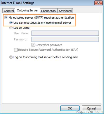 GMAIL Authentication Failed with Outlook, Thunderbird