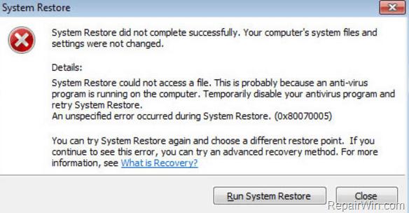 System Restore 0x80070002 error on Windows 10/8/7/Vista (Solved