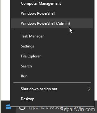 Command Prompt missing from Start menu Windows 10 creators update