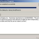 [FIX] Outlook 0x80040900 error during Send/Receive.