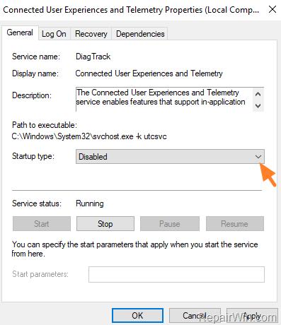 disable telemetry windows 10