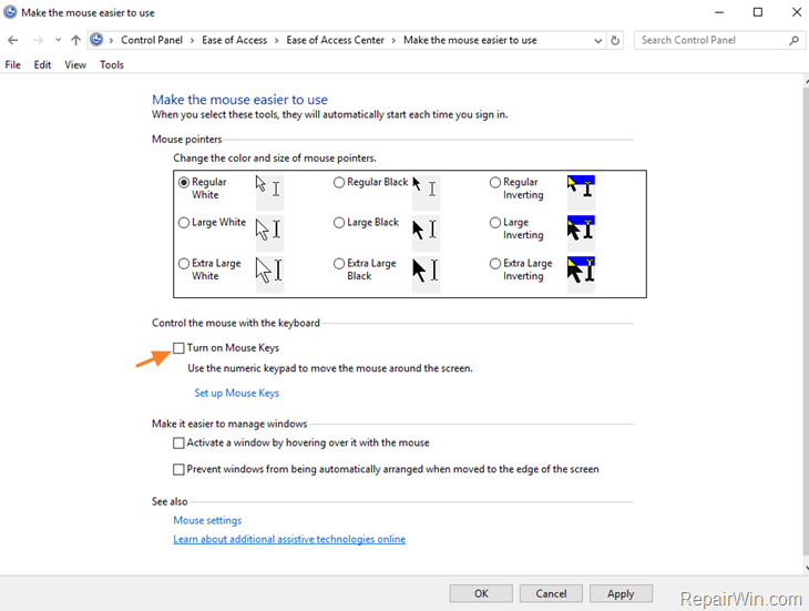 fix Numeric keypad not working in Windows 10