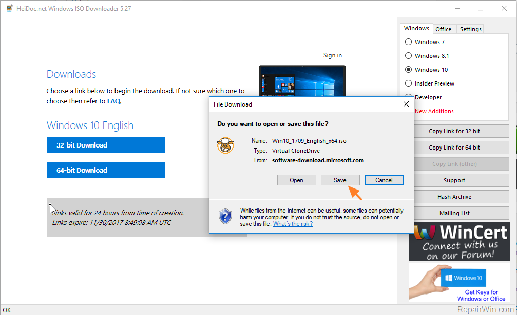 media creation tool to download windows 10 microsoft 64 bit