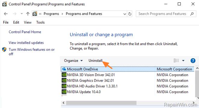 completely removel OneDrive