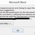 FIX: File cannot be previewed in Outlook – Word Experienced an Error when Opening a Saved Outlook Attachment (Solved)