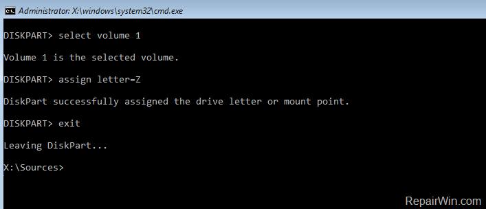 Reparar archivos de arranque UEFI