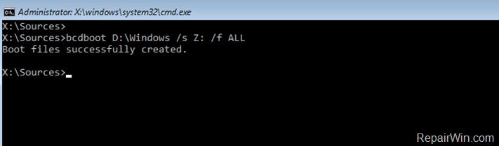 Reparación de la configuración de arranque Windows 10