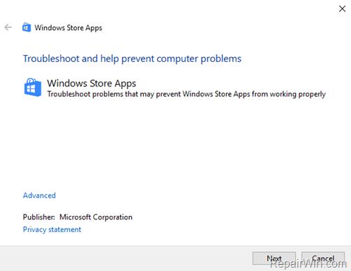fix Error 0x803F8001 or 0x87AF000B Windows Store