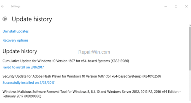 Windows 10 KB4056892 Update Fails