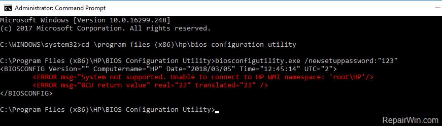 remove hp laptop bios passsword