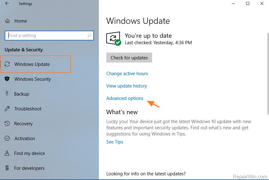 windows 10 pause updates
