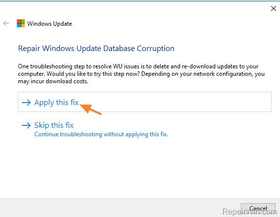 FIX: Windows 10 Feature Update 1809 Failed 0x80070522