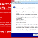 How to Remove Internet Security Alert Code 055BCCAC9FEC SCAM Message.