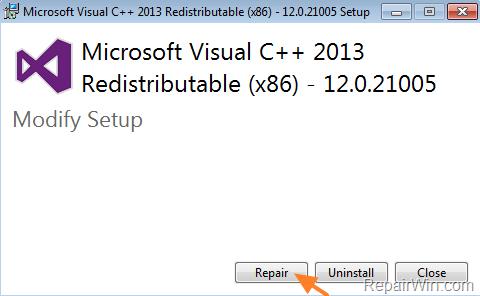 Program Can't Start MSVCr100.dll is Missing