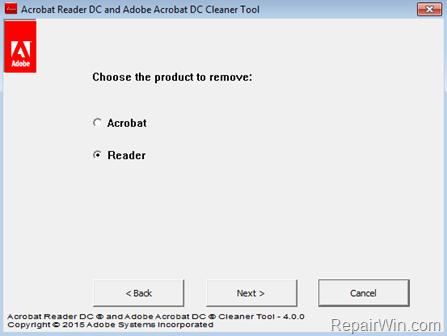 Acrobat Reader DC y Adobe Acrobat DC Cleanup tool