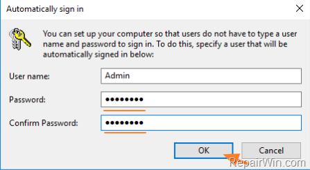 Auto Login to Windows 10